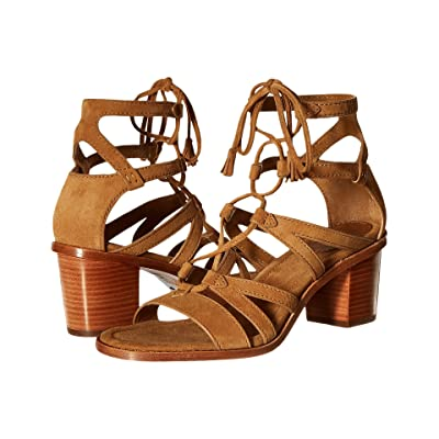 Frye Brielle Gladiator (Sand Suede) High Heels