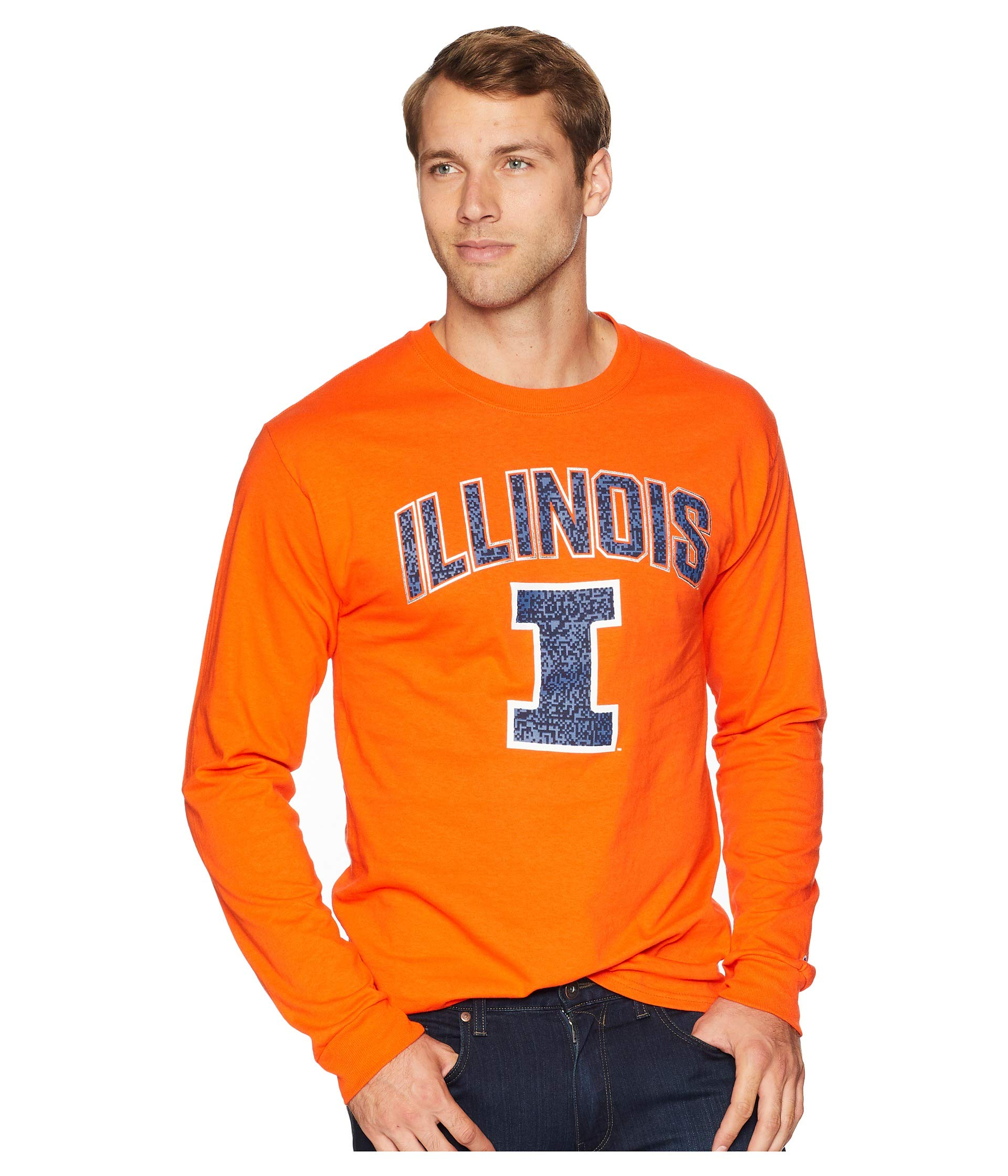 Long Tee Sleeve Jersey Illini College Champion Illinois Fighting Orange wnxZT4Cvq