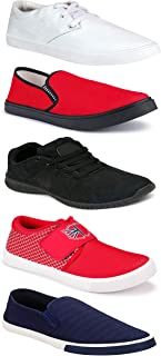 WORLD WEAR FOOTWEAR Sports Running Shoes/Casual/Sneakers/Loafers Shoes for MenMulticolors (Combo-(5)-1219-1221-1140-749-1017)