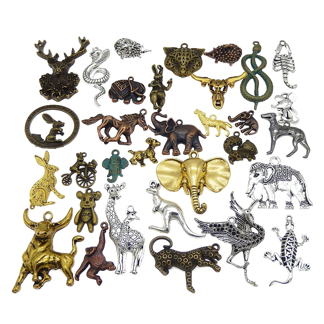 40pcs Mixed Animal Charms Pendants Findings for Jewelry DIY Making