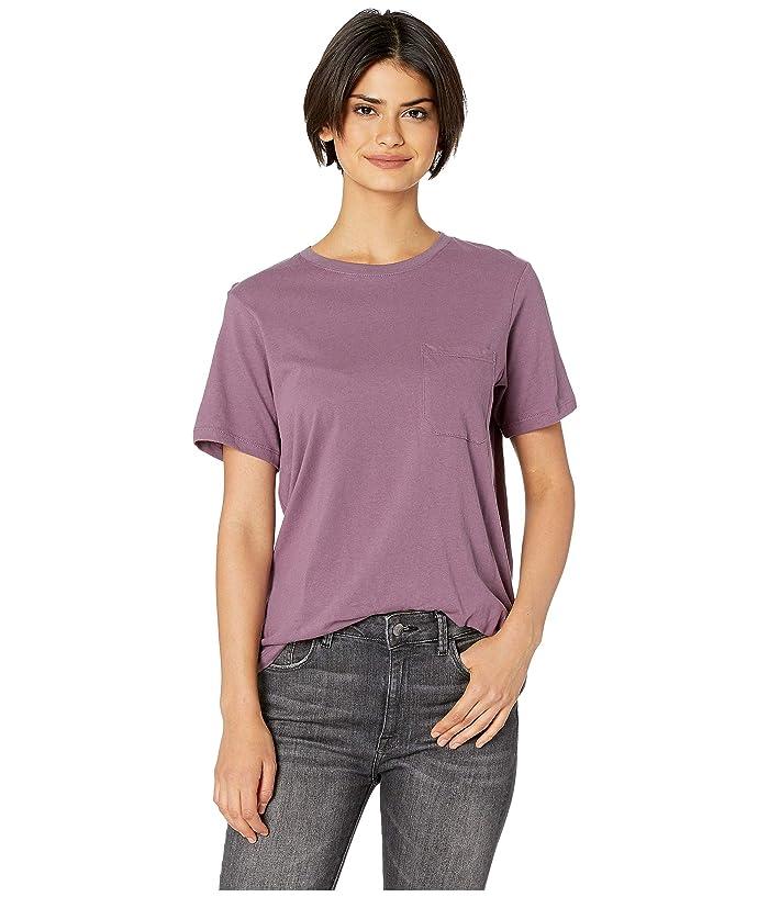 Richer Poorer Crew Pocket Tee (Plum) Women's T Shirt