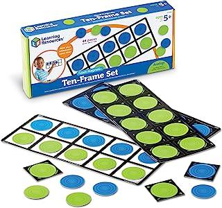 Learning Resources Giant Magnetic Ten-Frame Set, Classroom Math Set, Magnetic Whiteboard Set, Classroom Demonstration, Set...