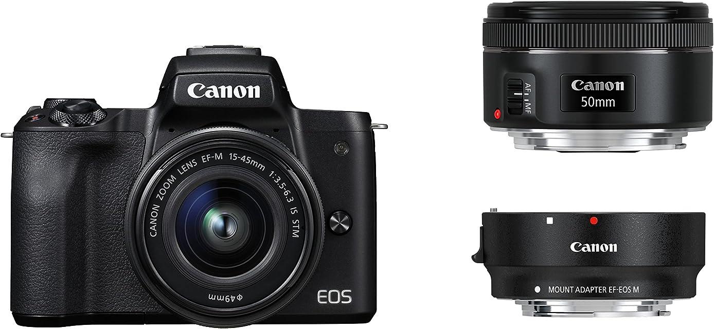 Canon EOS M50Negro EF-M 15–45+ EF Adapter + EF 501.8Kit