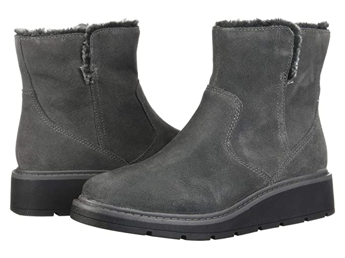 Clarks  Ivery Opal (Dark Grey Warm Lined Suede) Womens  Boots