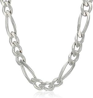 Men's Sterling Silver Italian Solid Figaro Link-Chain...