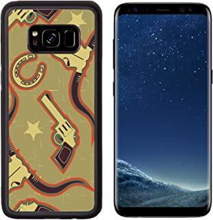 Liili Premium Samsung Galaxy S8 Aluminum Backplate Bumper Snap Case IMAGE ID: 17854764 western seamless pattern for background