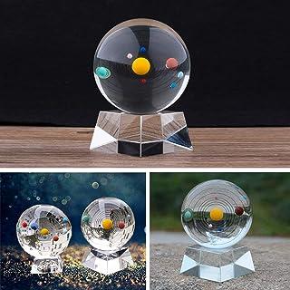 Spar.saa Crystal Solar System Crystal Ball with Crystal Stand