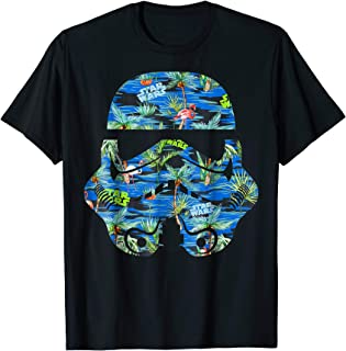 Stormtrooper Hawaiian Print Helmet Graphic T-Shirt