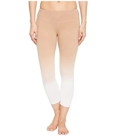 Hard Tail Flat Waist Capris (Ombre Wash 2) Women