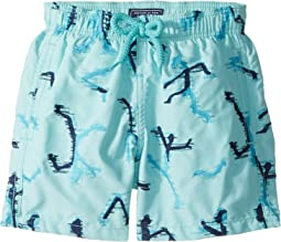 Vilebrequin Kids - Danse Du Feu All Over Embroidery Swim Trunk (Toddler/Little Kids/Big Kids)