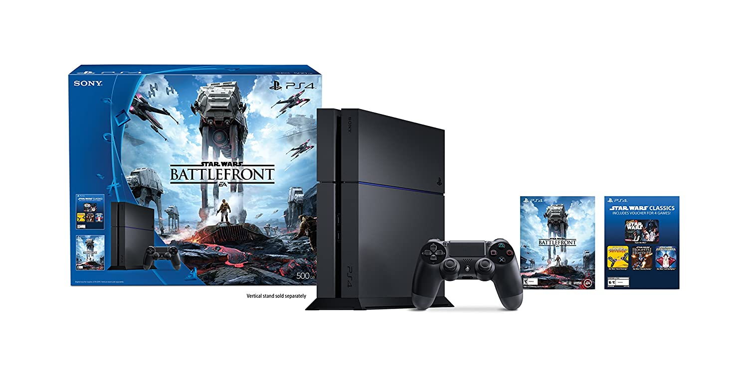 PlayStation 4 500GB Console Outlet sale feature - Battlefront Wars Star Disco Bundle Year-end gift