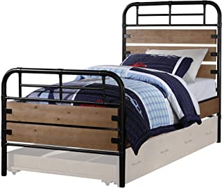 ACME Adams Antique Oak Twin Bed