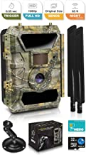 4G Cellular Trail Cameras – Outdoor WiFi Full HD Wild Game Camera with Night Vision for Deer Hunting, Security - Wireless Waterproof and Motion Activated – 32GB SD Card + Sim Card (B Camo, 4)