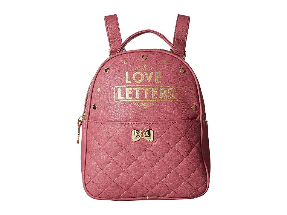 5cc1358850 Betsey Johnson Backpack w  Pouch (Blush) Backpack Bags