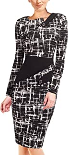 Women's Voguish Colorblock Wear to Work Pencil Dress B231
