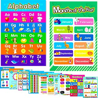 11 Australian Educational Alphabet Preschool Posters for kids toddler Colours Months Seasons Shapes Time Weather Days Week...