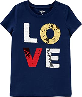 OshKosh B'Gosh Kids' Little Girls' Sequin Short-Sleeve...
