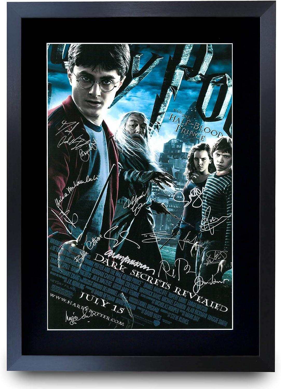 HWC Trading El Actor Príncipe Mestizo Harry Potter Daniel Radcliffe, Emma Watson Envolver, Rupert Grint Carteles Impresos Autógrafos Imagen A La ...