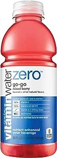 vitaminwater zero go-go, electrolyte enhanced water w/ vitamins, mixed berry drink, 20 fl oz