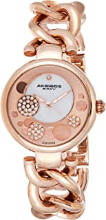 Akribos XXIV Women's Ornate Analogue Display Quartz Watch with Alloy Bracelet