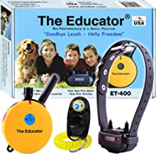Bundle of 2 Items - E-Collar - ET-400 - 3/4 Mile Rechargeable Remote Waterproof Trainer Educator - Static, Vibration and Sound Stimulation Collar with PetsTEK Dog Training Clicker