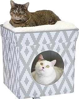منزل وسرير كبير للقطط بشكل مكعب قابل للتكديس من كيتي سيتي