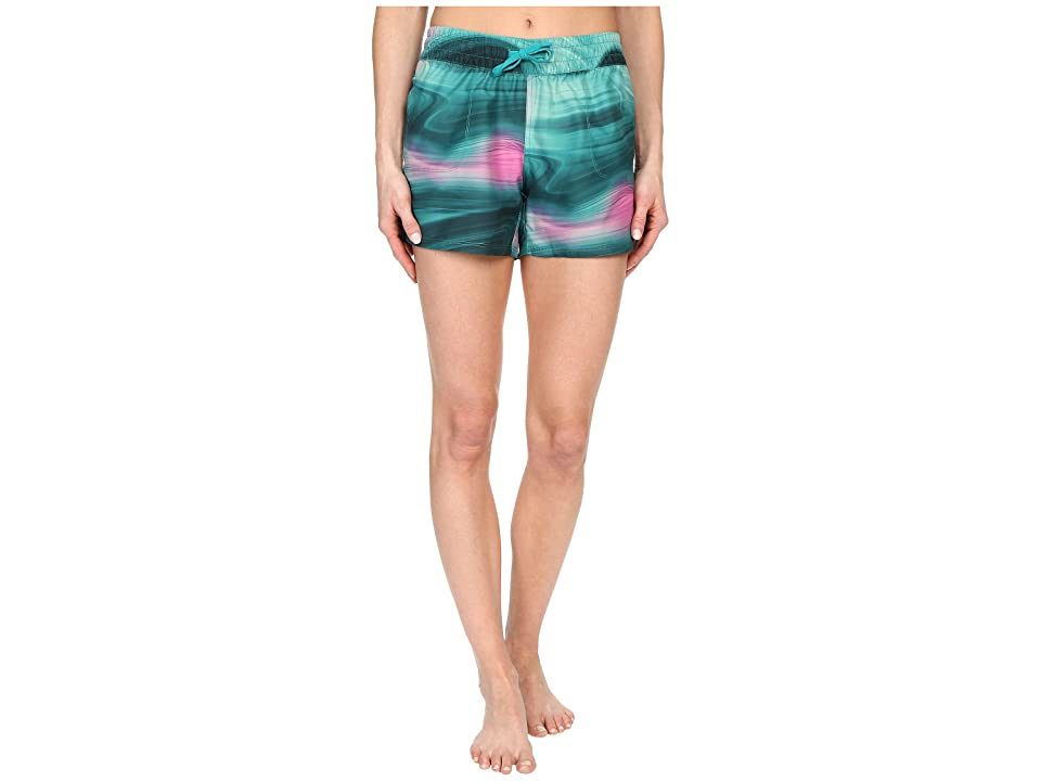 The North Face Printed Class V Shorts (Teal Blue Water Swirl Print (Prior Season)) Women
