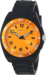 Caravelle New York Men's 45A112 Analog Display Japanese Quartz Black Watch