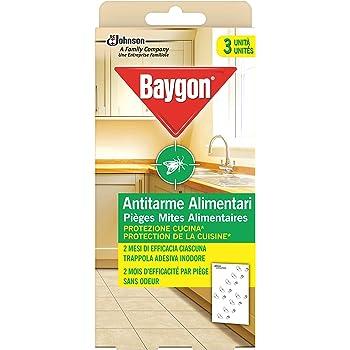 Baygon Antitarme Alimentari, Protezione per la Cucina, Efficace fino a 8 Settimane, 2 Confezioni da 40 g