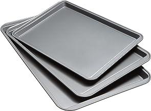 Goodcook 08929002199 Nonstick Bakeware, Set Of 3 Non-Stick Cookie Sheet, Multicolor
