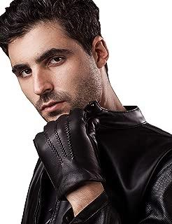 Mens Deerskin Leather Dress Vintage Luxury Gloves Warm Cashmere Lined