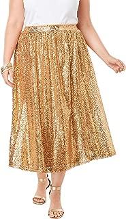 Jessica London Women's Plus Size Sequin Skirt
