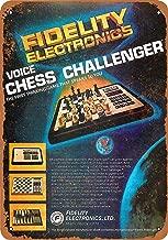 SRongmao 8 x 12 Tin Metal Sign - Vintage Look 1979 Fidelity Voice Chess Challenger