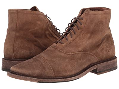 Frye Paul Lace-Up (Faded Brown Distressed Suede) Men