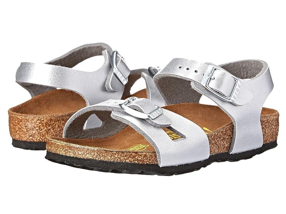 Birkenstock Kids Rio (Toddler/Little Kid/Big Kid) (Silver Birko-Flortm) Girls Shoes