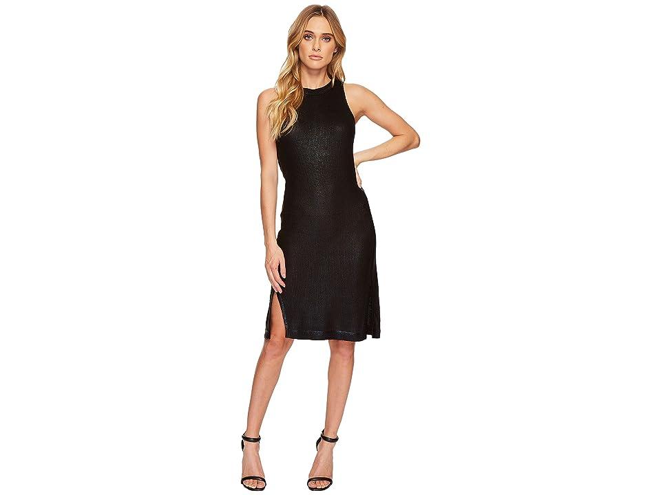 Splendid Astor Metallic Sleeveless Dress (Black) Women