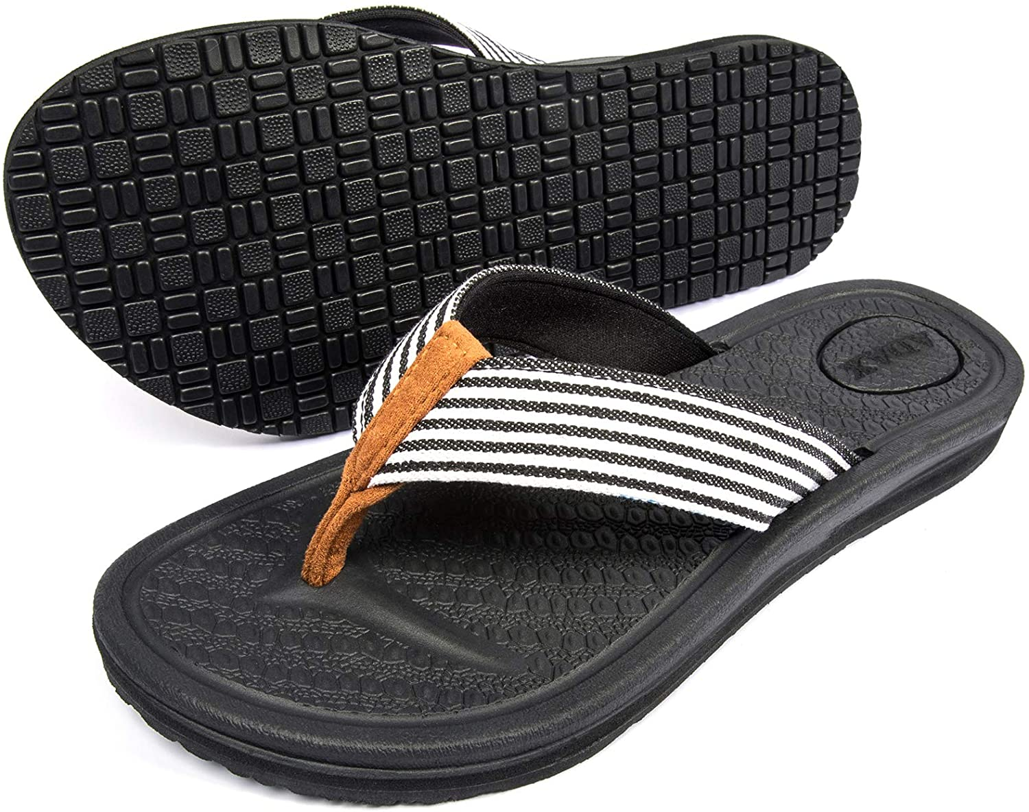 ADAX Limited time trial price Women's At the price of surprise Comfortable Memory Foam Flip Non Flops Soft Cushion
