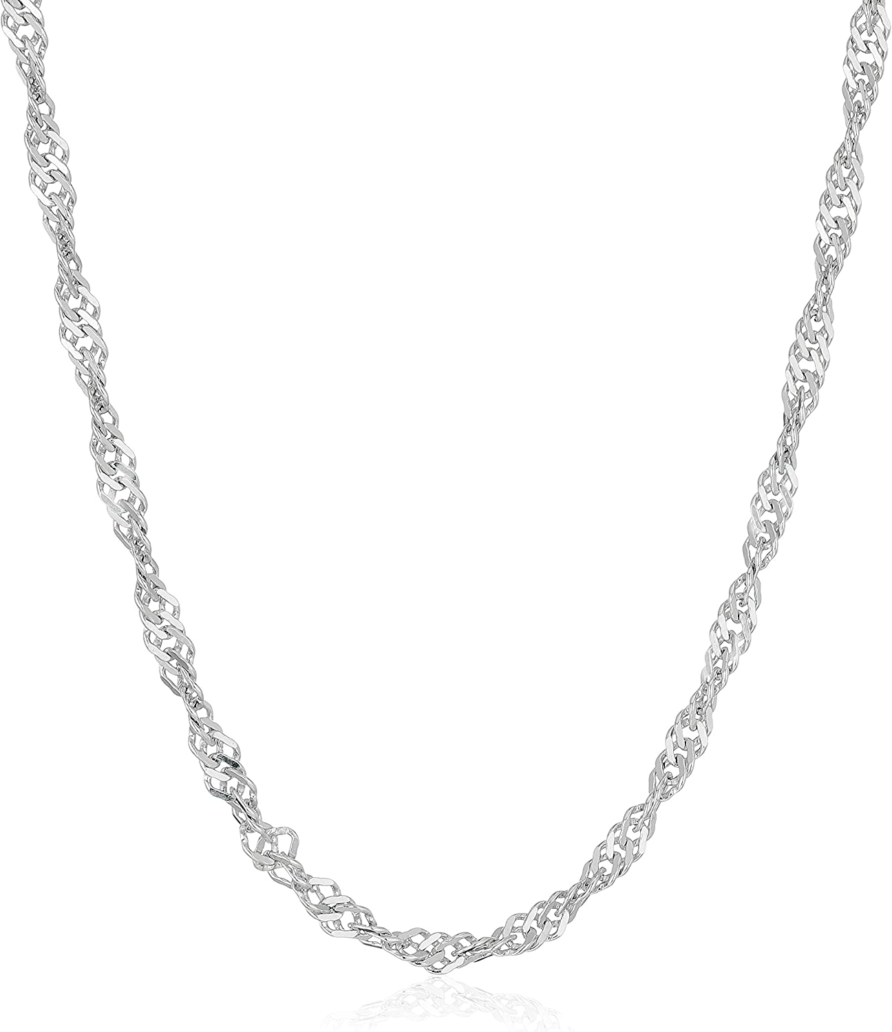 Sterling Silver Italian 2.1 Ranking TOP12 mm Necklace Chain 16