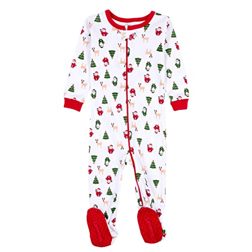 d28eaf657 Leveret Baby Boys Girls Christmas Footed Pajamas Sleeper 100% Cotton Kids &  Toddler Pjs (