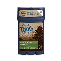 Tom's of Maine 24-Hour Men's Long Lasting Natural Deodorant, North Woods, 2.25 Ounce