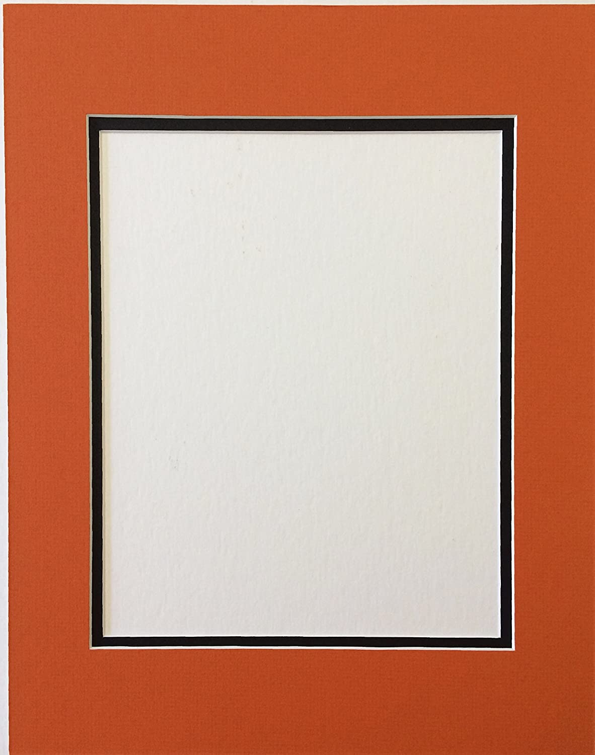 16x20 Orange and Black Double Picture 67% Fresno Mall OFF of fixed price P Cut for 11x14 Mat Bevel