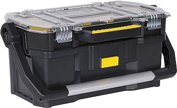 STANLEY Toolbox Tote Plus opslag Organiser, zware metalen vergrendeling, verwijderbare verdelers, 19 inch, STST1-70317