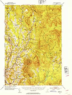 YellowMaps Burke VT topo map, 1:62500 Scale, 15 X 15 Minute, Historical, 1951, Updated 1953, 20.7 x 16.9 in