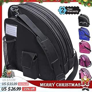 TOPOWN Ice Skate Bag Roller Skates Bag for Boys and Girls Men Inline Skate Bag Women Roller Skate Bag Premium Black Ice Skate Bag Rose Red Rollerblade Bag Pink