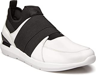Men's Bond Jackson Slip-on Sneaker with Concealed Orthotic Arch Support White 9 D US