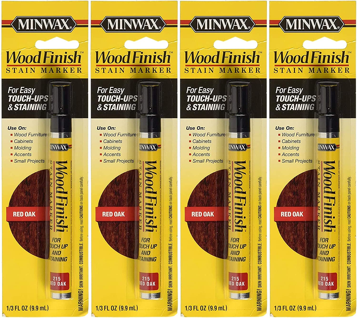 Minwax 63483000 Wood Finish Stain Marker San Jose Mall Pack Red Oak Clearance SALE! Limited time! 4