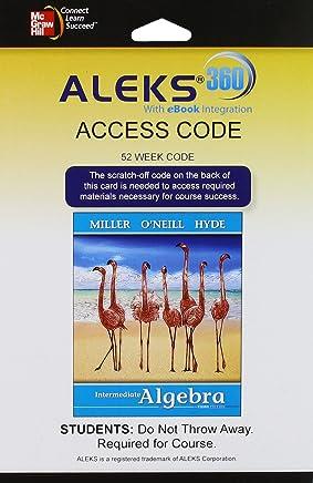 ALEKS 360 Access Card (52 weeks) for Intermediate Algebra (softcover)