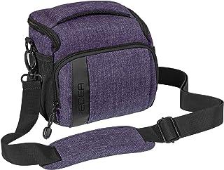 PEDEA DSLR Kameratasche Fashion Fototasche für Spiegelreflexkameras mit wasserdichtem Regenschutz, Tragegurt und Zubehörfächern (Größe L, lila)