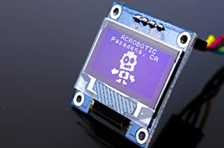 "ACROBOTIC 0.96"" White I2C 128×64 OLED LCD Display Module for Arduino, ESP8266, MSP420, STM32, 8051, Raspberry Pi LED Screen SSD1306"