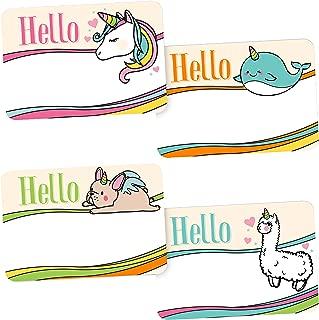 Avery Magical Rainbow Animal Name Tags, Unicorn, Llamacorn, Narwhal, French Bulldog, No Lift, 36 Handwriteable Stickers
